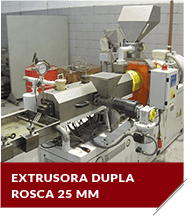 Extrusora dupla rosca 25 mm